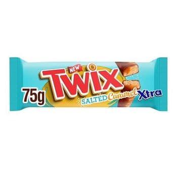 Twix Salted Caramel Xtra Twin Bars 75G