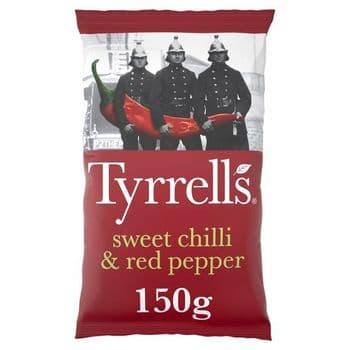 Tyrrells Crisps Sweet Chilli & Red Pepper Crisps 150G