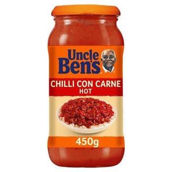 Uncle Bens Hot Chilli Sauce 450G