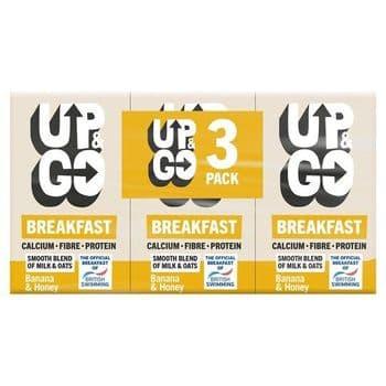 Up & Go Breakfast Banana & Honey Drink 3 X 250Ml