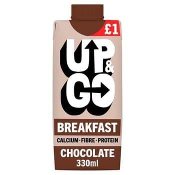 Up&Go Breakfast Drink Chocolate 330Ml