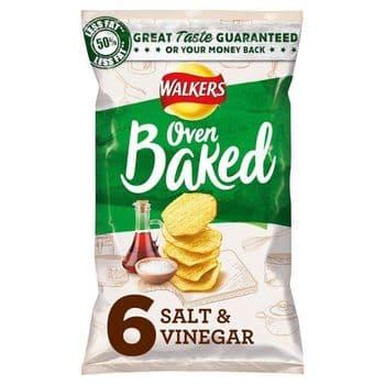 Walkers Baked Salt & Vinegar 6X25g