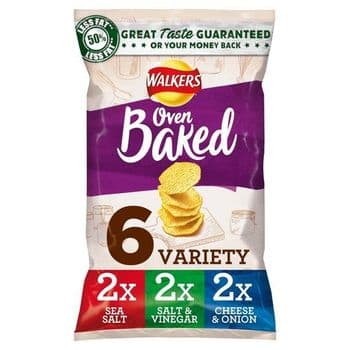 Walkers Baked Variety Crisps 6X25g