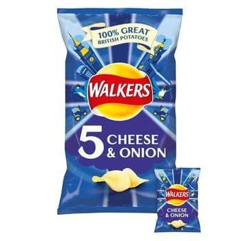 Walkers Cheese & Onion Crisps 5X25g