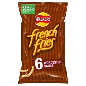 Walkers French Fries Worcester Sauce 6X18g