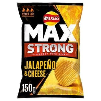 Walkers Max Strong Jalapeno And Cheese Crisps 150G