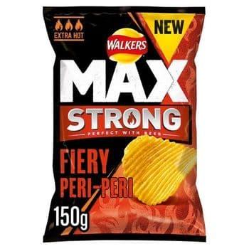 Walkers Max Strong Peri-Peri Potato Crisps 150G
