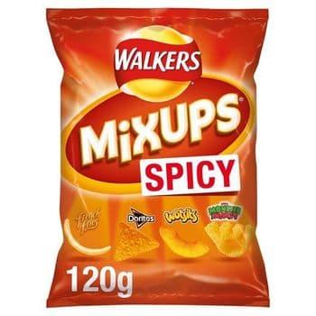 Walkers Mix Ups Spicy Snacks 120G