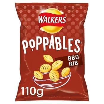 Walkers Poppables Bbq Rib Snacks 110G