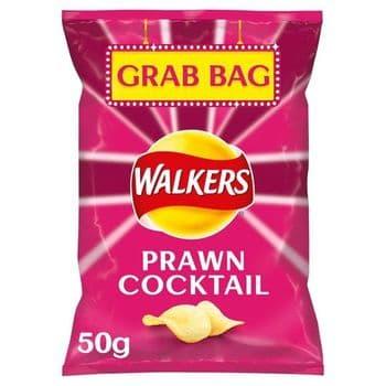 Walkers Prawn Cocktail Crisps Grab Bag 50G