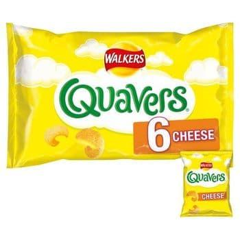 Walkers Quavers Cheese Snacks 6 Pack 16G