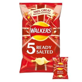 Walkers Ready Salted Crisps 5X25g
