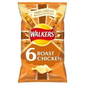 Walkers Roast Chicken Crisps 6X25g