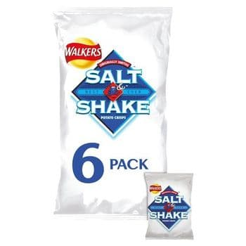 Walkers Salt & Shake Crisps 6X24g