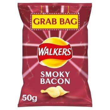 Walkers Smokey Bacon Crisps 50G