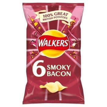 Walkers Smoky Bacon Crisps 6X25g