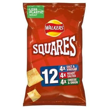 Walkers Squares Variety Snacks 12X22g