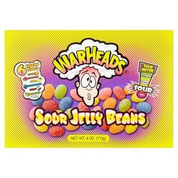 Warheads Sour Jelly Beans Assorted Flavours 113G
