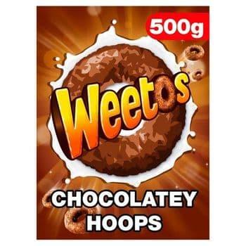 Weetabix Chocolate Weetos Cereal 500G