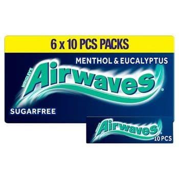 Wrigley's Airwaves Menthol Eucalyptus 6X10pcs 84G