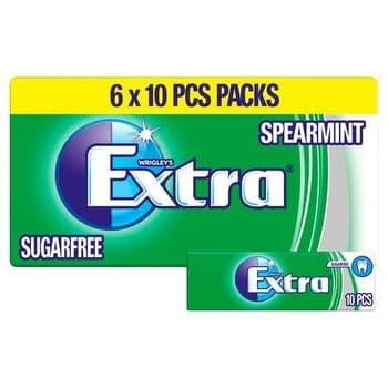 Wrigley's Extra Spearmint 6X10 Pieces 84G