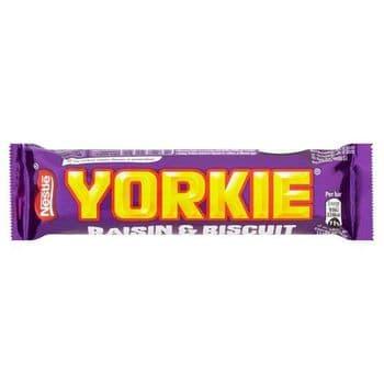 Yorkie Raisin & Biscuit Chocolate Bar 44G