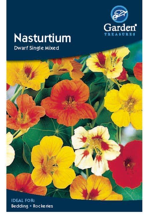 Nasturtium Dwarf Single Mixed