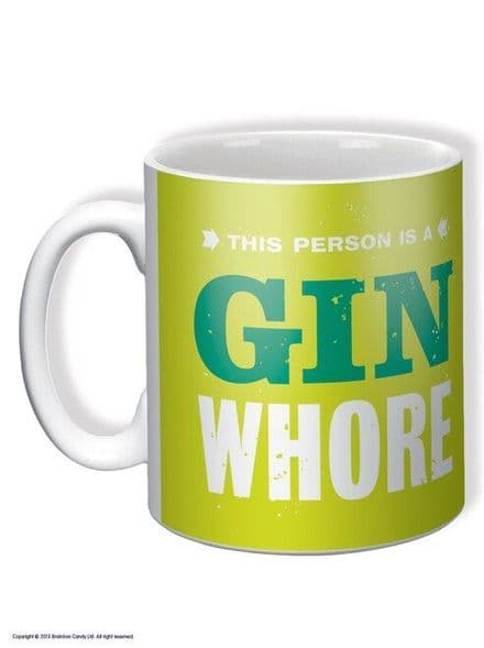 """""""This Person is a Gin Wh*re"""" Funny Novelty Mug"""