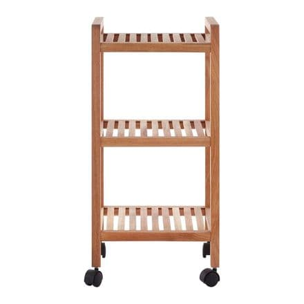 3 Tier Walnut Wood Bathroom Trolley
