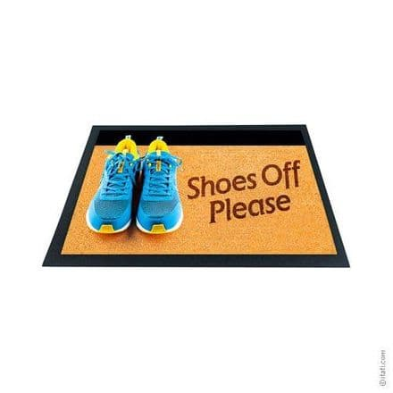 3D-Effect Novelty Doormat - Shoes Off Please