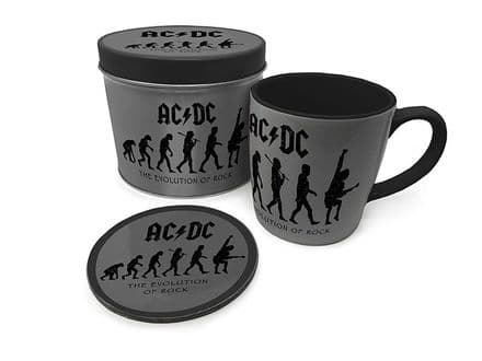 AC/DC The Evolution of Rock Mug & Coaster In Tin