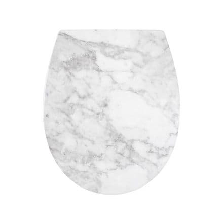 AWD Interiors Marble Effect Toilet Seat