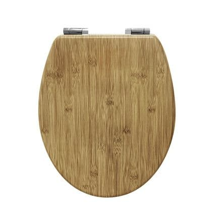 AWD Interiors  Natural Wood Effect Toilet Seat