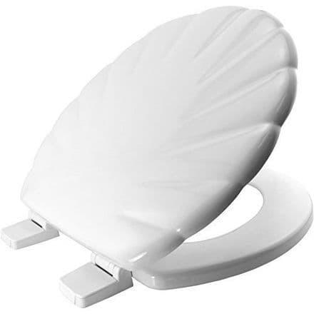 Bemis Shell Design White Toilet Seat