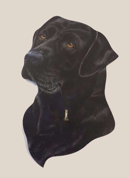 Black Labrador Lead Hanger