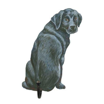 Black Labrador Shaped Single Hook