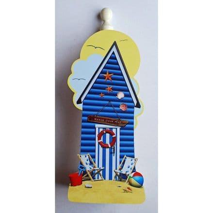 Blue Beach Hut Spare Kitchen Roll Holder