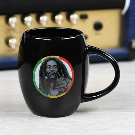 Bob Marley (Tricolour Circle) Oval Mug