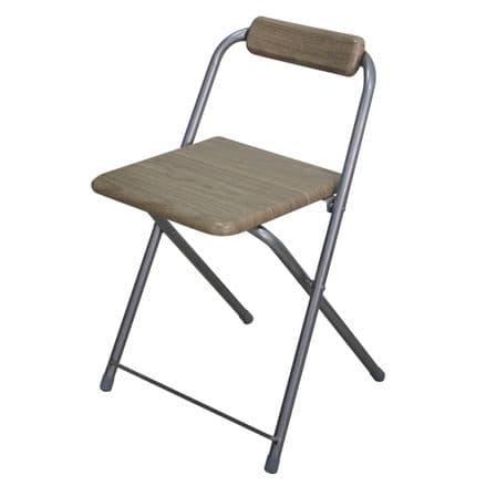 Boston Beech Effect Folding Chair Square