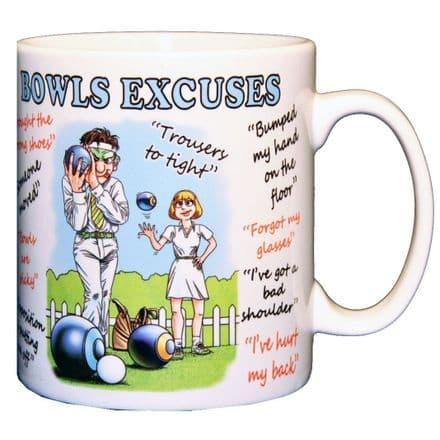 Bowls Excuses Ceramic Mug