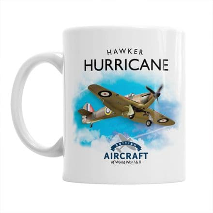 British Aircraft of WWI & WWII Mug:  Hawker Hurricane