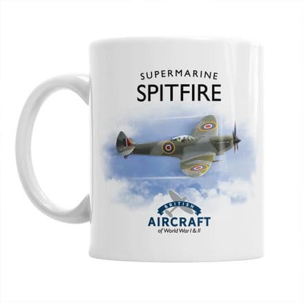 British Aircraft of WWI & WWII Mug: Supermarine Spitfire