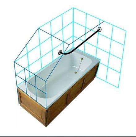 Byretech Eaves Shower Rail Kit