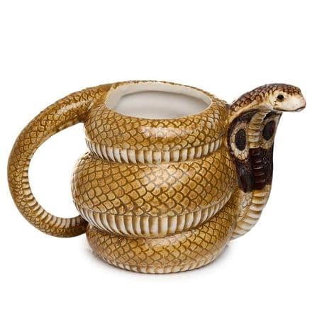 Cobra Coiled Snake Ceramic Shaped Mug