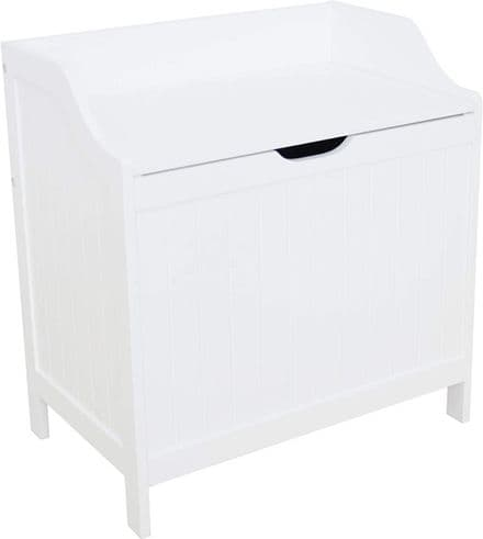 Colonial White Laundry Hamper Box