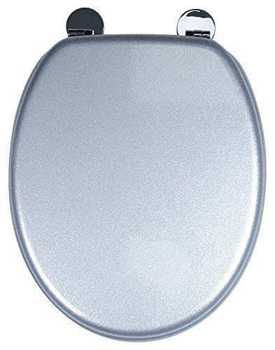 Croydex Silver Glitter Resin Toilet Seat