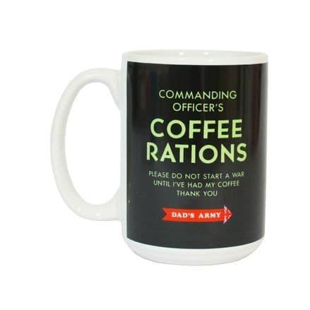 Dad's Army Don't Panic Coffee Rations Mug