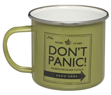 Dad's Army Don't Panic Enamel Mug