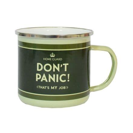Dad's Army Don't Panic  (That's My Job!) Enamel Mug