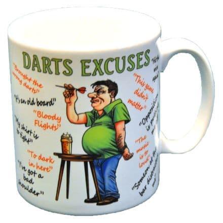 Darts Excuses Ceramic Mug